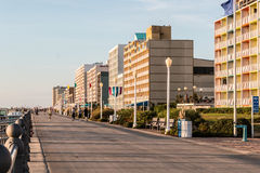 Early Morning on the Virginia Beach Boardwalk Royalty Free Stock Images