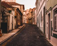 Early morning walk in Aveiro, Portugal Stock Photo
