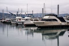 Early morning water reflections in Resurrection Bay, Alaska. stock photo