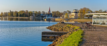 Early morning on the waterfront of Haapsalu, Estonia Stock Photography