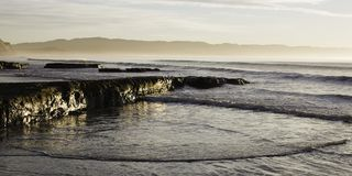 Early Morning Waves At Point Reyes Stock Image