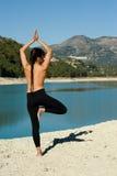 Early morning yoga Stock Photos