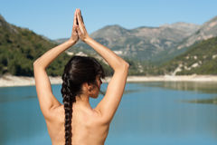 Early morning yoga Royalty Free Stock Image