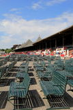 Early morninng at the track, Saratoga Springs,New York,2014 Royalty Free Stock Image