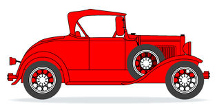 Early Motor Car. One of the first production motor vehicles over a white background royalty free illustration