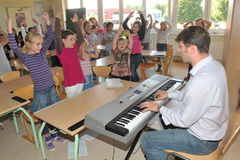Early musical education royalty free stock photography