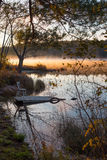 Early October Morning On The Lake In Chalk River. Royalty Free Stock Photos