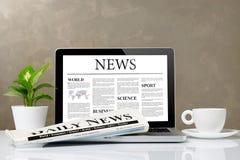 Early Office News Stock Photos