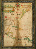 Early Old Paper Map Of USA Stock Photos