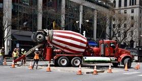Road Repair on Michigan Avenue Royalty Free Stock Images