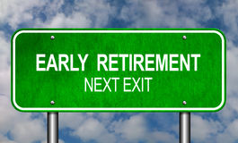 Early Retirement Road Sign. Announcement Conceptual Illustration Royalty Free Stock Photography