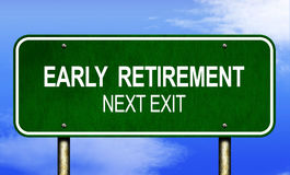 Early Retirement Road Sign Royalty Free Stock Images