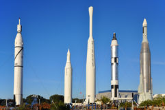 Early Rockets in Kennedy Space Center Royalty Free Stock Image