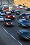 Early rush hour. Freeway rush hour stock photos