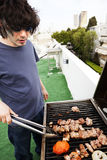 Rooftop Grillin' Royalty Free Stock Images