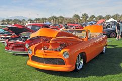 Awesome Orange Early 1950`s Ford Convertible royalty free stock photos