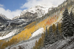 Early Snow in the San Juan Mountains stock image