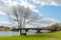 Early spring in Cambridge. Massachusetts Royalty Free Stock Photos