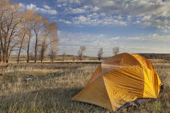 Early spring camping in Wyoming Stock Photos