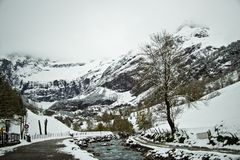 Early spring in Gavarnie, France Stock Photography