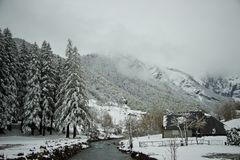 Early spring in Gavarnie, France Royalty Free Stock Images