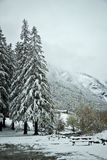 Early spring in Gavarnie, France Royalty Free Stock Photo