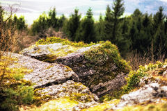 Early Spring Hill Landscape in the Franconian Swiss Royalty Free Stock Photo