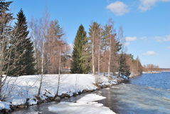 Early spring in Imatra, Finland Stock Photo