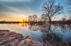 Early spring landscape Stock Photography