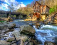 An early Spring morning at the Glade Creek Grist M Royalty Free Stock Photography