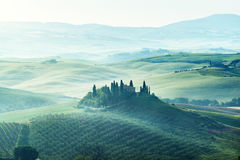 Early spring morning in Tuscany Royalty Free Stock Image