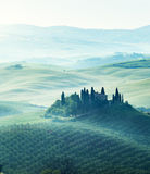 Early spring morning in Tuscany, Italy royalty free stock photos