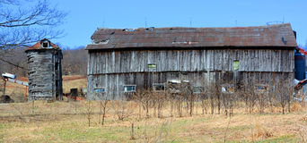 Early spring old farm Stock Photography