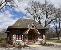 Carlson Cottage. This is an early Spring picture of the front of the iconic Carlson Cottage at the Lincoln zpark Zoo located in Chicago, Illinois in Cook County Stock Images