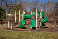 Early Spring Playground Gym. Taken during an early spring walk along the Susquehanna River at Tunkhannock, Pennsylvania stock images