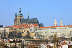 Early Spring in Prague - gothic Castle Stock Images