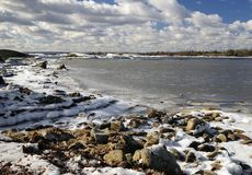 Early spring shore Royalty Free Stock Images