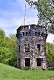 Bancroft Castle, Town of Groton, Middlesex County, Massachusetts, United States. Early Spring view of Bancroft Castle, atop Gibbet Hill, in bucolic Groton Royalty Free Stock Photography