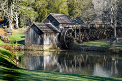 Early spring view of Mabry Mill on the Blue Ridge Parkway located in Southwestern Virginia Stock Images