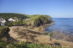 Early summer morning at Hope Cove, Devon, England Stock Image