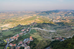Early summer morning in San Marino. Top view of the city Stock Photography