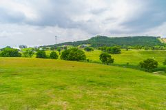 Early Summer scenery of Mulan grassland Scenic spot in Wuhan, Hubei Province, China royalty free stock photos