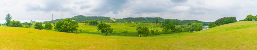 Early Summer scenery of Mulan grassland Scenic spot in Wuhan, Hubei Province, China stock photo
