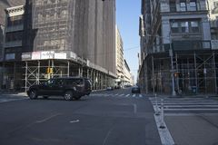 Crosstown view on Fifth Avenue in New York royalty free stock image