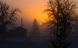 Early sunrise. An early sunrise in Sweden Stock Image