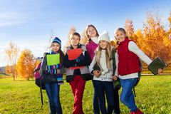 Early teen kids after school Stock Image