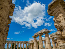 The Early Temple of Hera, known as the 'Basilica', Paestum Stock Image