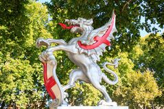 Dragons defend the entrance to the city of London, 2017 Royalty Free Stock Image