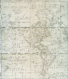 Early 18th century map of Western Hemisphere Stock Photography