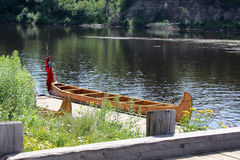 Early Trading Canoe Royalty Free Stock Photography